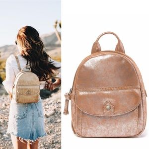 FRYE Melissa Small Leather Backpack